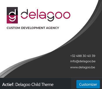 Child theme banner